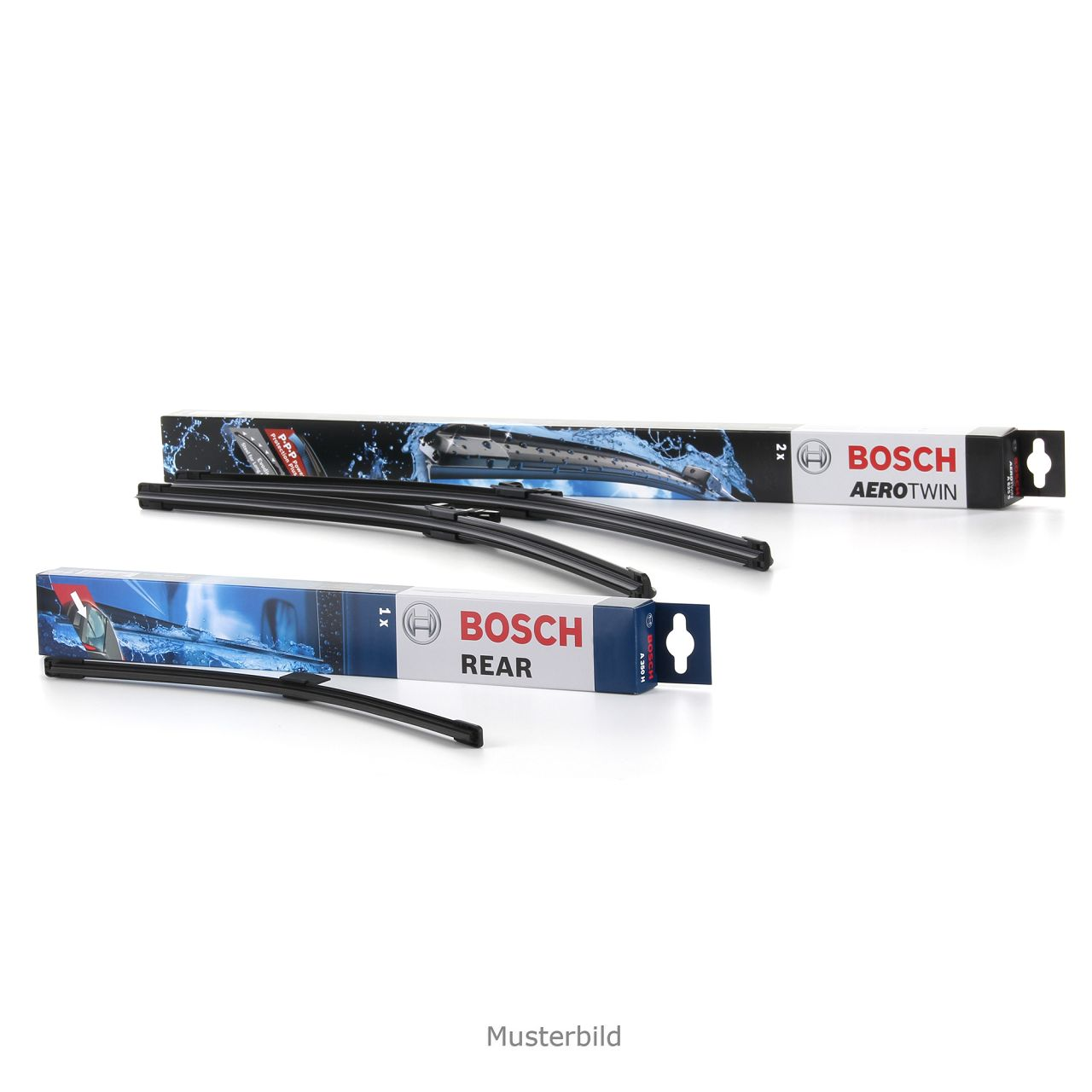 BOSCH Scheibenwischer Wischerblätter A100S + A381H für MERCEDES VIANO VITO W639