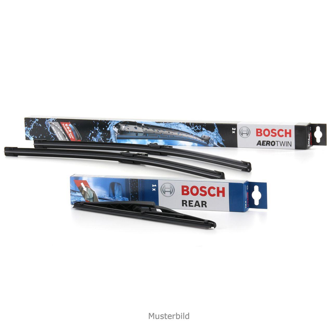 BOSCH Scheibenwischer Wischerblätter AM468S vorne + H301 hinten für OPEL CORSA D