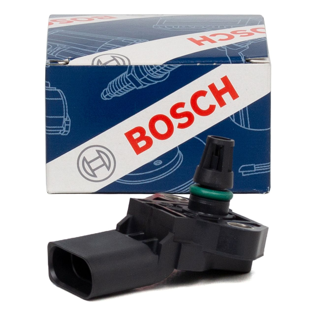 BOSCH 0281002976 Ladedrucksensor AUDI A3 A4 PORSCHE SEAT SKODA VW Golf 6 7