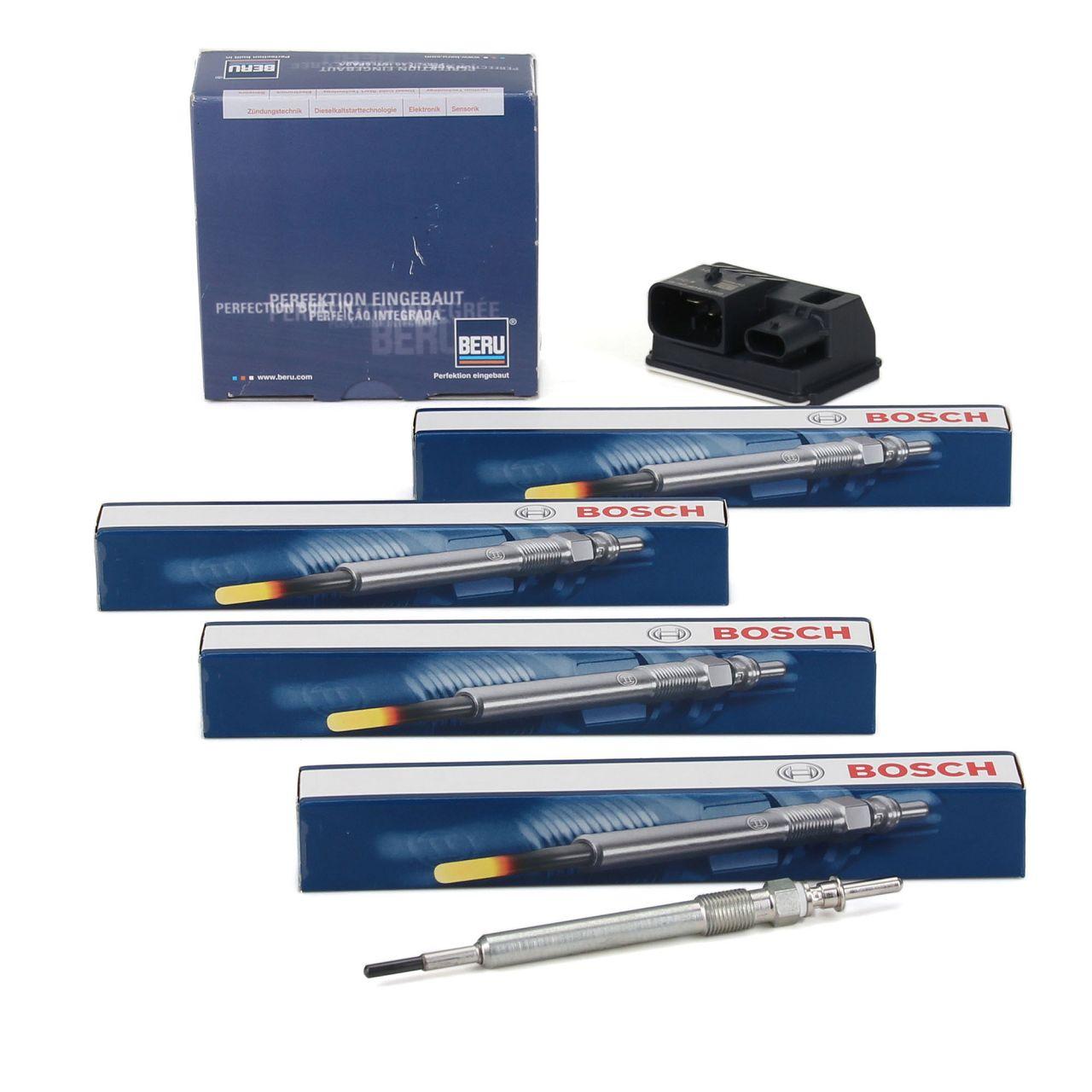 BERU GSE106 Steuergerät Glühzeit + 4x BOSCH GLP173 Glühkerze für BMW N47 B47