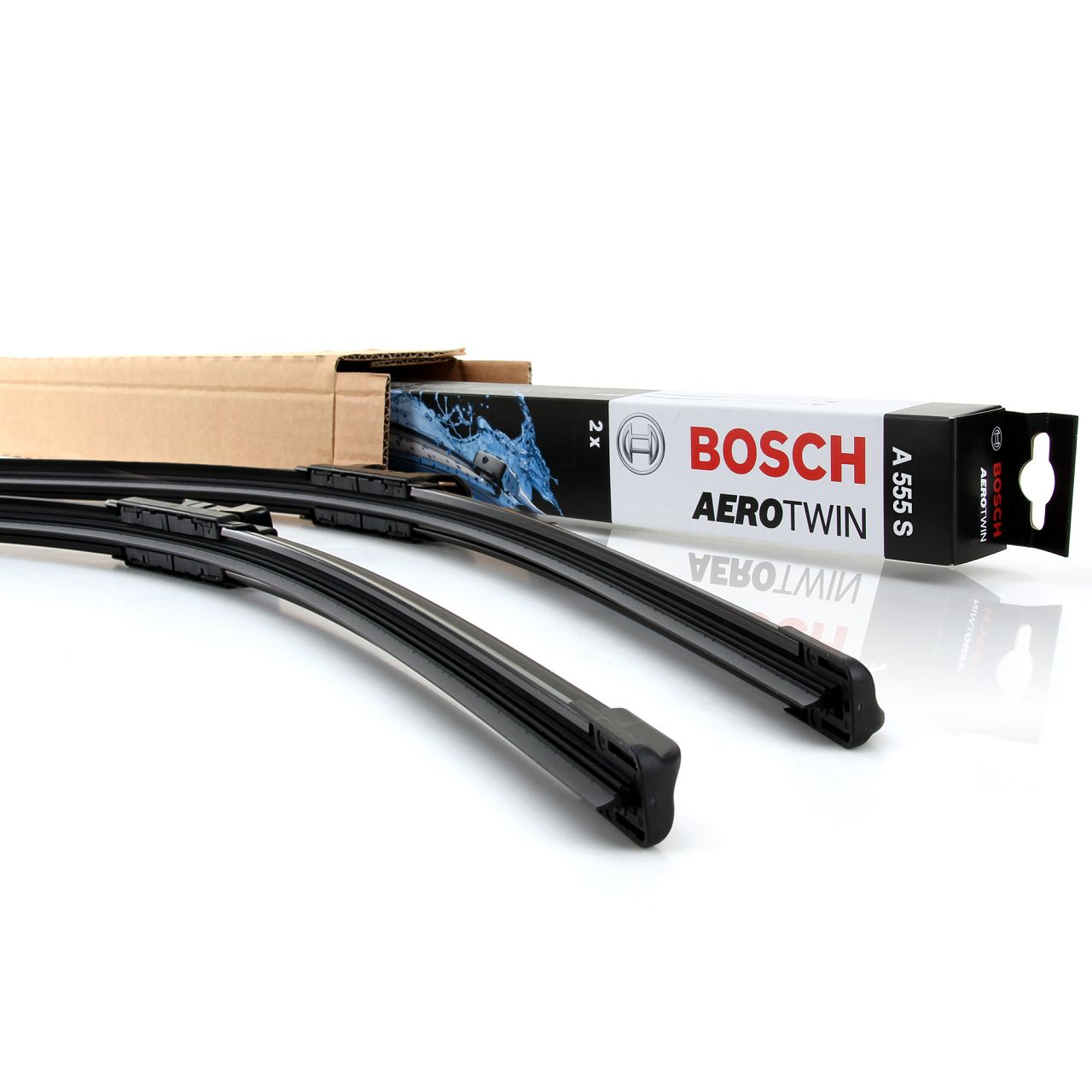 BOSCH AEROTWIN A555S Scheibenwischer Wischerblätter für AUDI A1 VW POLO 6R UP