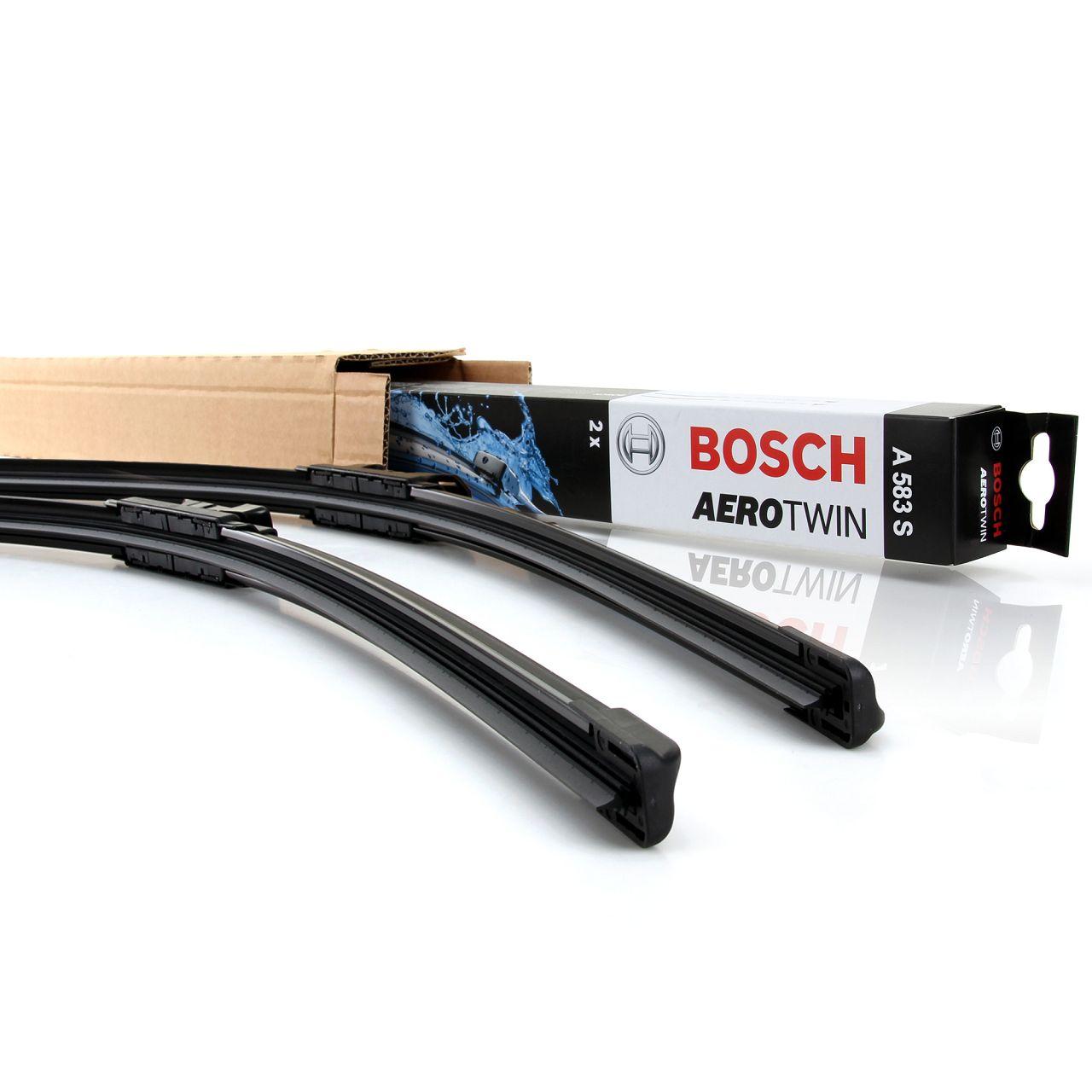 BOSCH AEROTWIN A583S Scheibenwischer Wischerblätter Satz VORNE 650mm 340mm