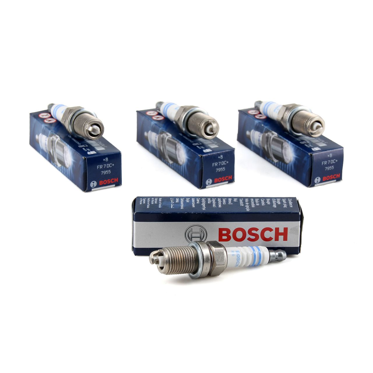 4x BOSCH Zündkerze Set NICKEL FR7DC+ 7955 +8 0242235666