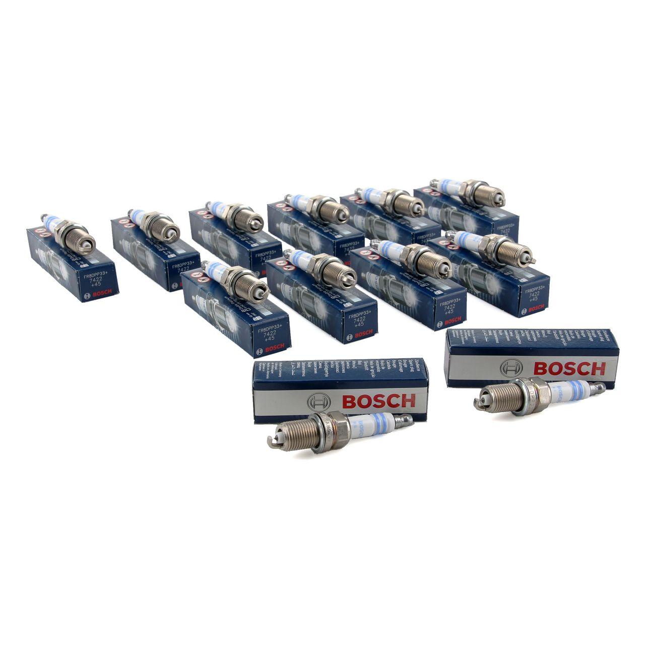 12x BOSCH FR8DPP33+ 0242230500 Zündkerze MERCEDES W202 W203 W210 W211 W140 W220 M112 M120