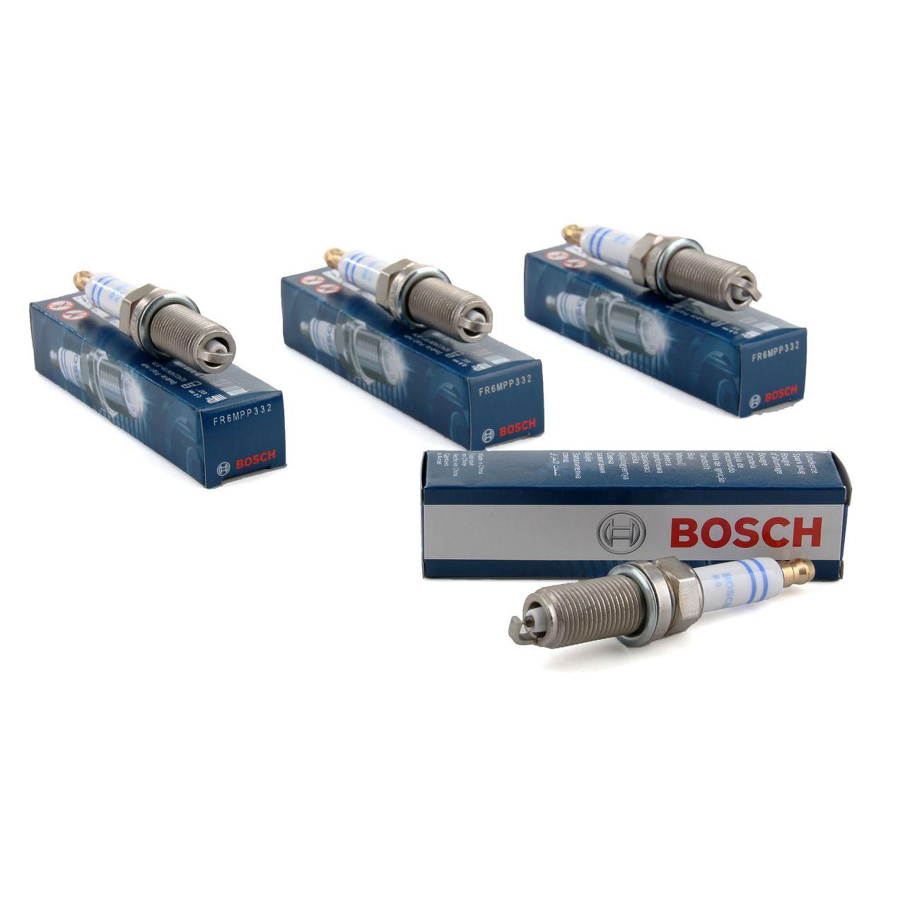 4x BOSCH FR6MPP332 0242240619 Zündkerze MERCEDES W203 W211 M271 0041594503