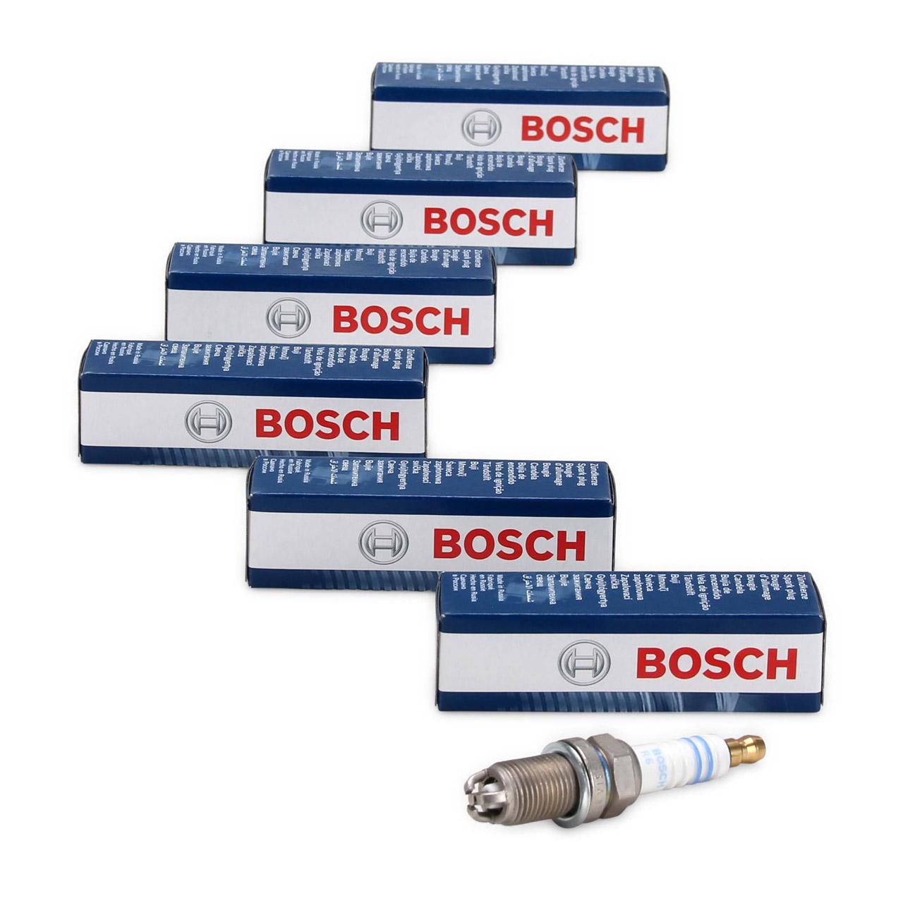 6x BOSCH 0242245539 FR5DTC Zündkerze NICKEL für PORSCHE 911 (964 993) Carrera