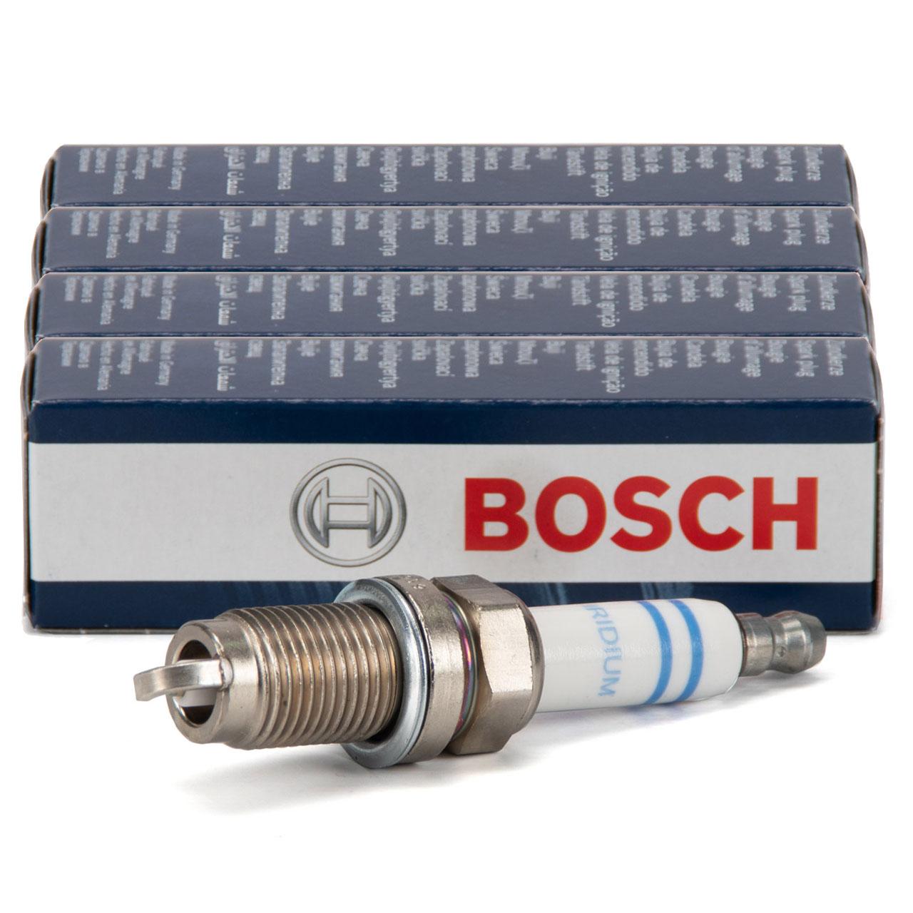 4x BOSCH FR6HI332 0242240665 Zündkerze AUDI A1 8X A3 8P VW Golf 6 Polo 1.2/1.4 TSI