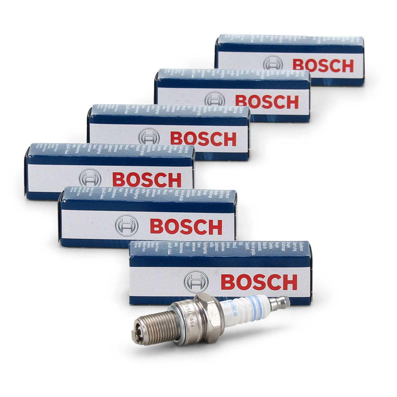 6x BOSCH 0242255502 WR3CC Zündkerze NICKEL für PORSCHE 911 2.3 2.7/3.0 Carrera
