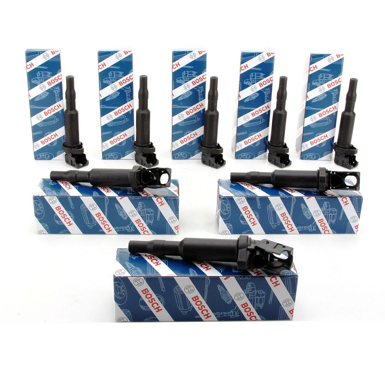 8x BOSCH 0221504470 Zündspule inkl. Zündkerzenstecker BMW E81/87 E46 E90 E60/61 F10 X3 X5