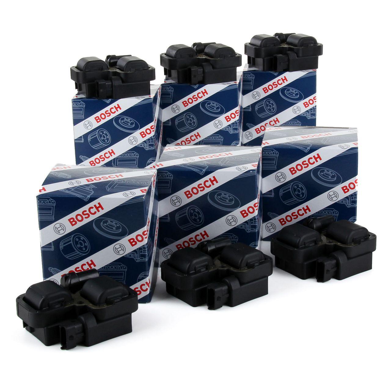 6x BOSCH 0221503035 Zündspule MERCEDES W202 W203 W210 W211 W463 W163 W220 M112 0001587803