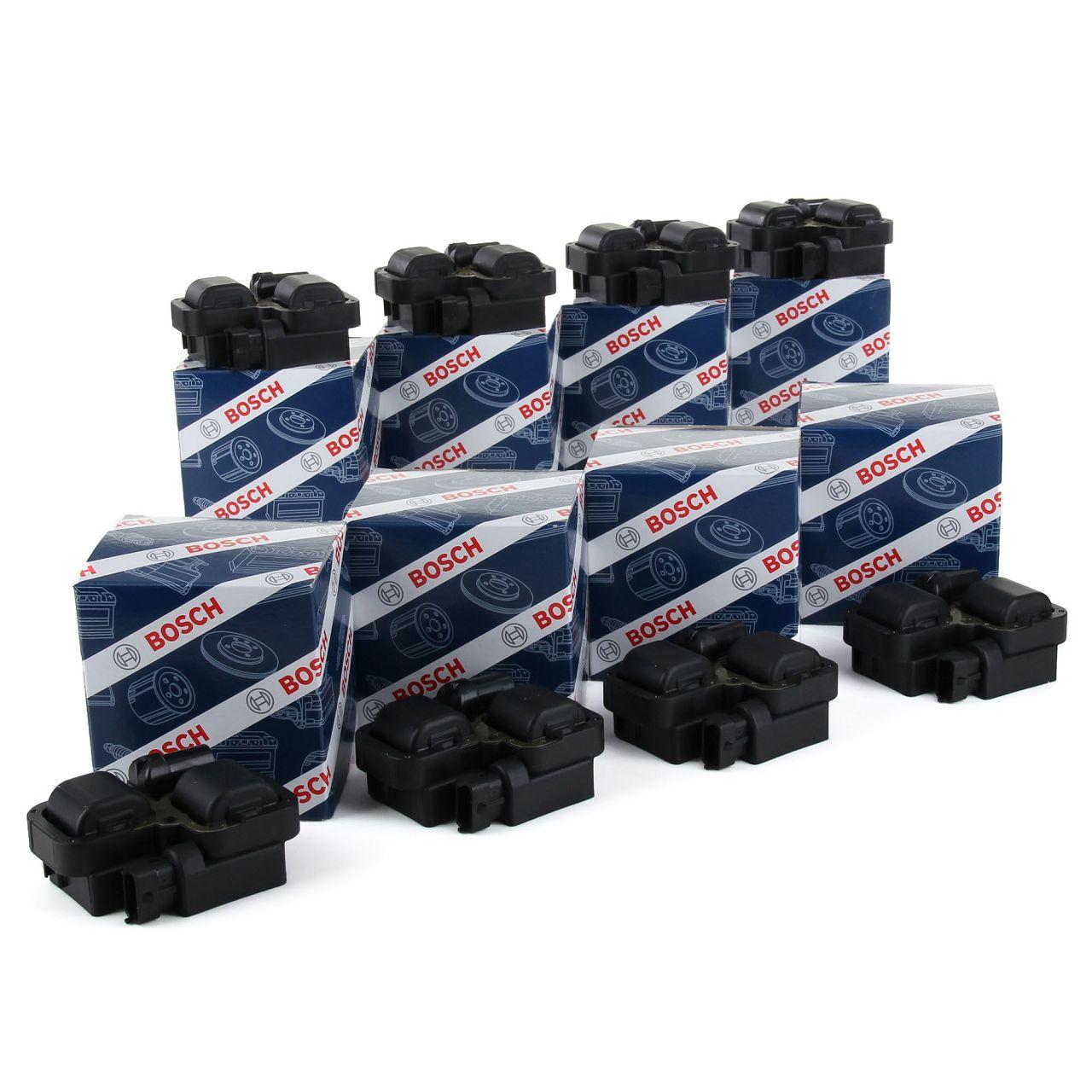 8x BOSCH 0221503035 Zündspule für MERCEDES 4+6+8 Zylinder Modelle 0001587803