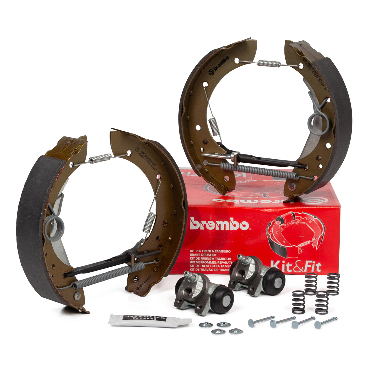 BREMBO KIT & FIT Bremsbacken + Radbremszylinder Satz CITROEN PEUGEOT hinten