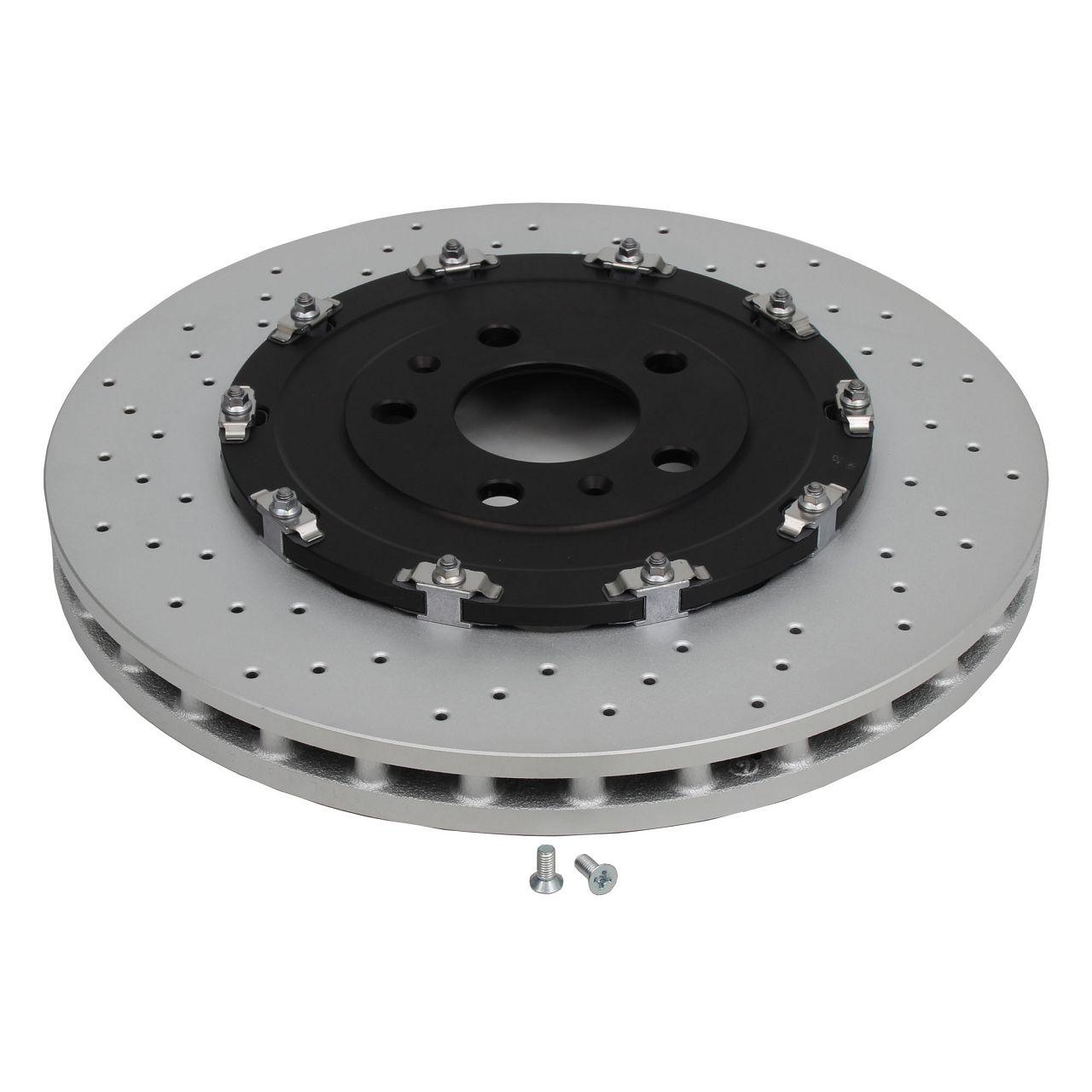 Bremsen BREMBO Bremsscheiben + ZIMMERMANN Bremsbeläge für AUDI RS4 (8E B7) vorne