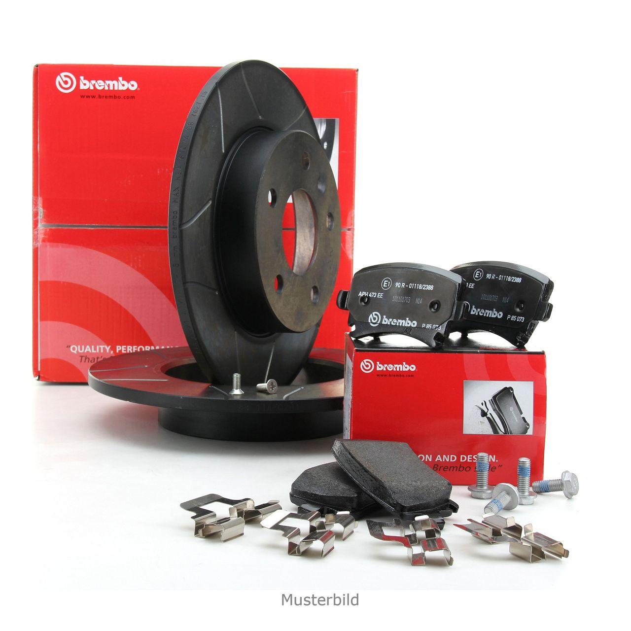 Brembo MAX LINE Bremsscheiben + Beläge AUDI A4 (8E B6) PR-1KD bis Fgst. 8E4180000 hinten
