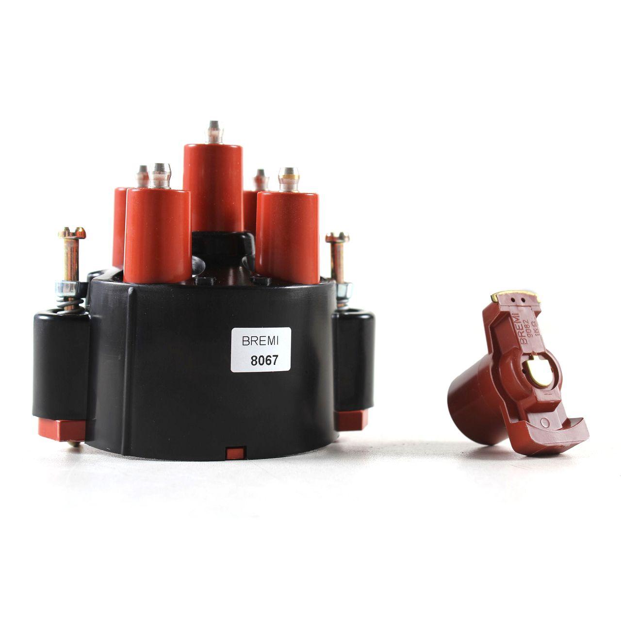 BREMI Verteilerkappe + Verteilerfinger MERCEDES W201 2.0 W123 W124 200 230 T1 M102
