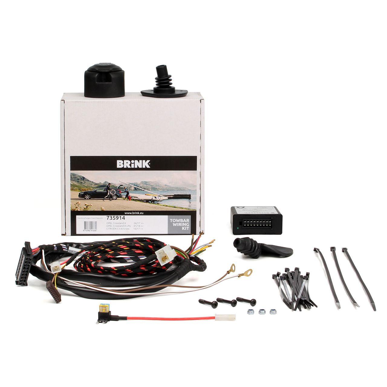BRINK Kabelsatz E-Satz Anhängerkupplung CITROEN C3 Aircross 2 OPEL Crossland X