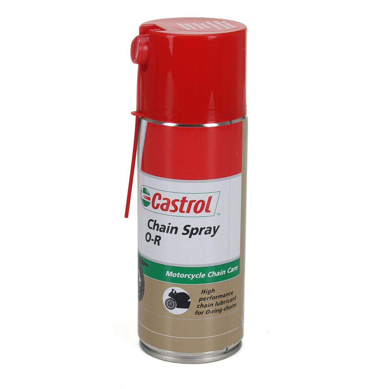 CASTROL Chain Spray O-R Kettenspray Kettenfett Fettspray Motorrad 3x 400ml
