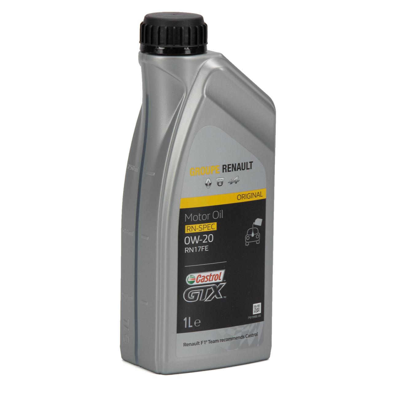 CASTROL Motoröl Öl GTX RN-SPEC 0W-20 0W20 für Renault RN17FE - 1L 1 Liter