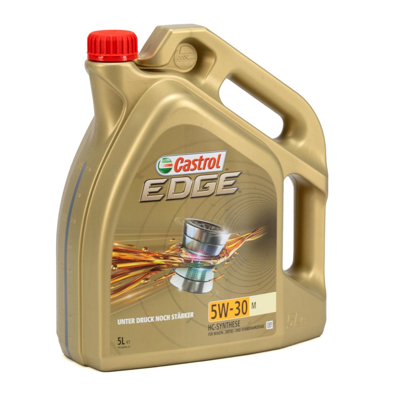 CASTROL Edge TITANIUM Motoröl ÖL 5W30 M BMW LL-04 MB 229.31/51/52 - 5L 5 Liter