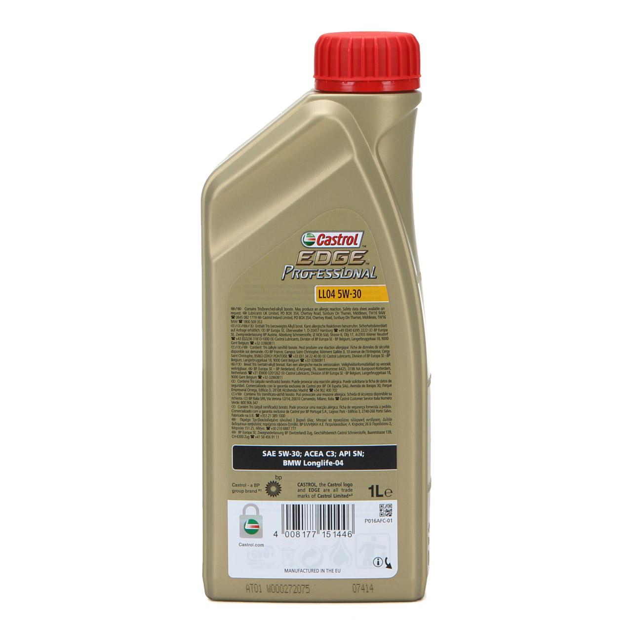 CASTROL EDGE Professional Motoröl Öl für BMW Longlife IV LL04 5W-30 - 1 Liter