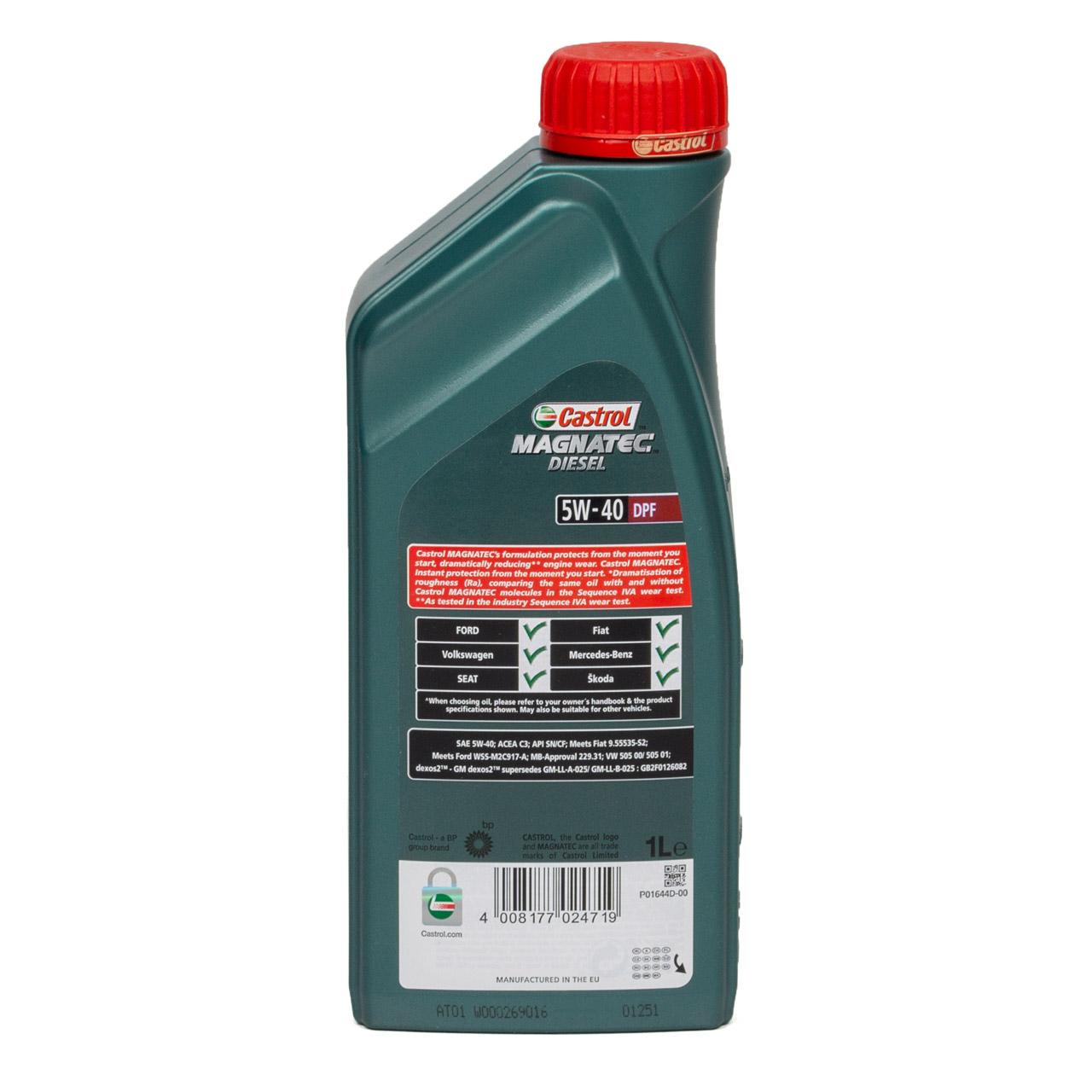 CASTROL Magnatec DIESEL DPF Motoröl Öl 5W40 dexos2 Ford WSS-M2C917-A - 1 Liter