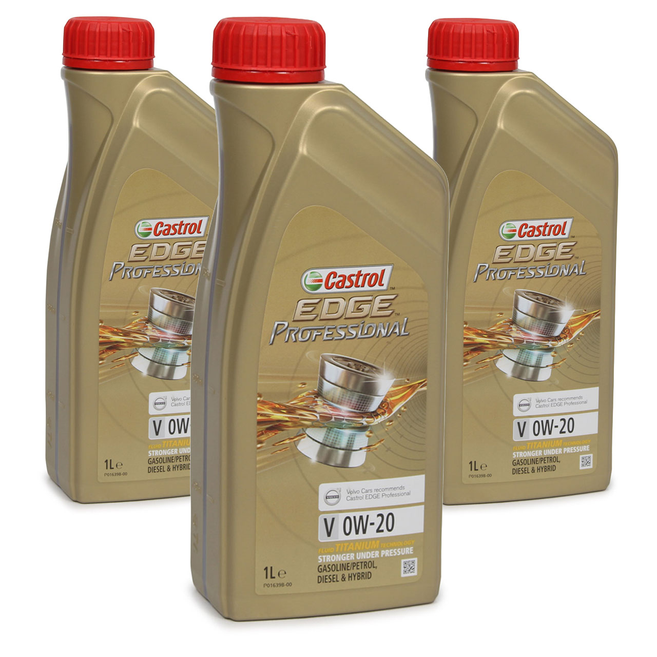 CASTROL EDGE Professional Motoröl ÖL TITANIUM FST V 0W20 C5 für VOLVO - 3 Liter