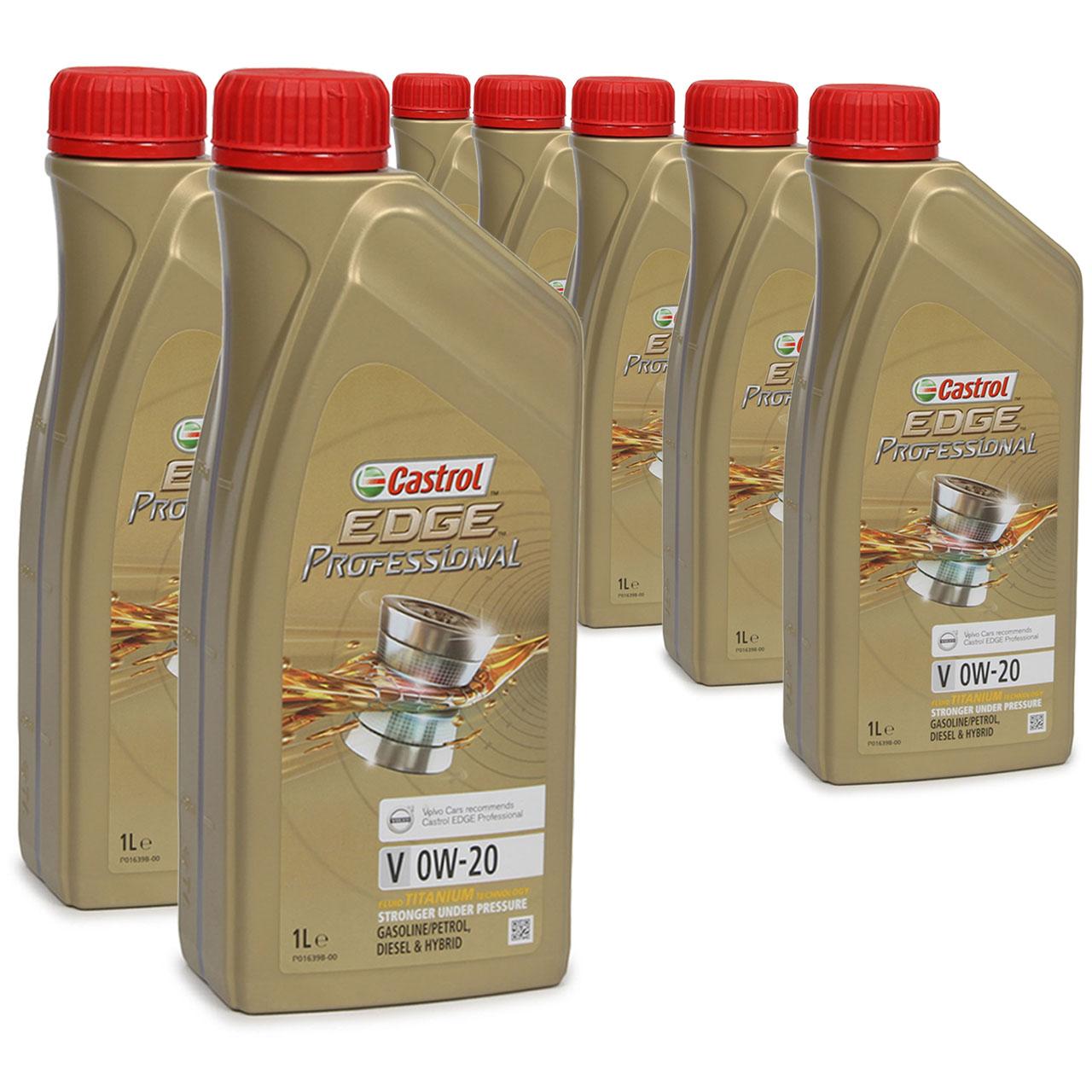 CASTROL EDGE Professional Motoröl ÖL TITANIUM FST V 0W20 C5 für VOLVO - 7 Liter