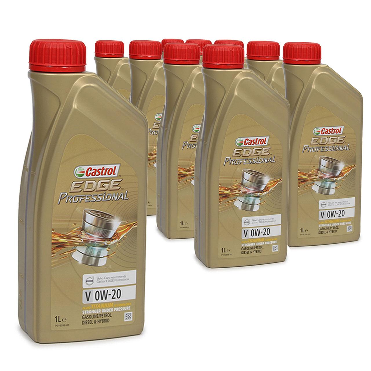 CASTROL EDGE Professional Motoröl ÖL TITANIUM FST V 0W20 C5 für VOLVO - 10 Liter