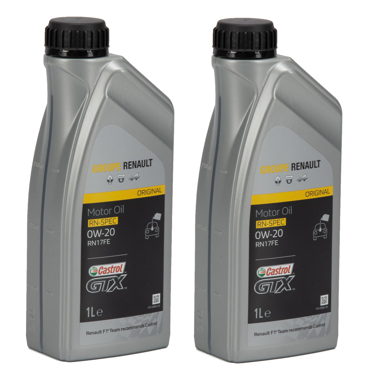 CASTROL Motoröl Öl GTX RN-SPEC 0W-20 0W20 für Renault RN17FE - 2L 2 Liter