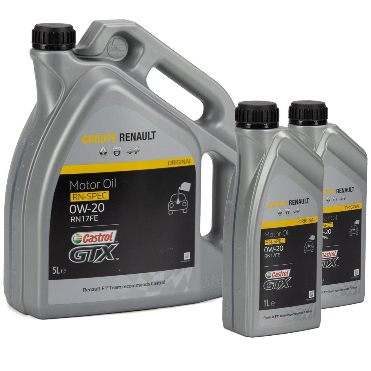 CASTROL Motoröl Öl GTX RN-SPEC 0W-20 0W20 für Renault RN17FE - 7L 7 Liter