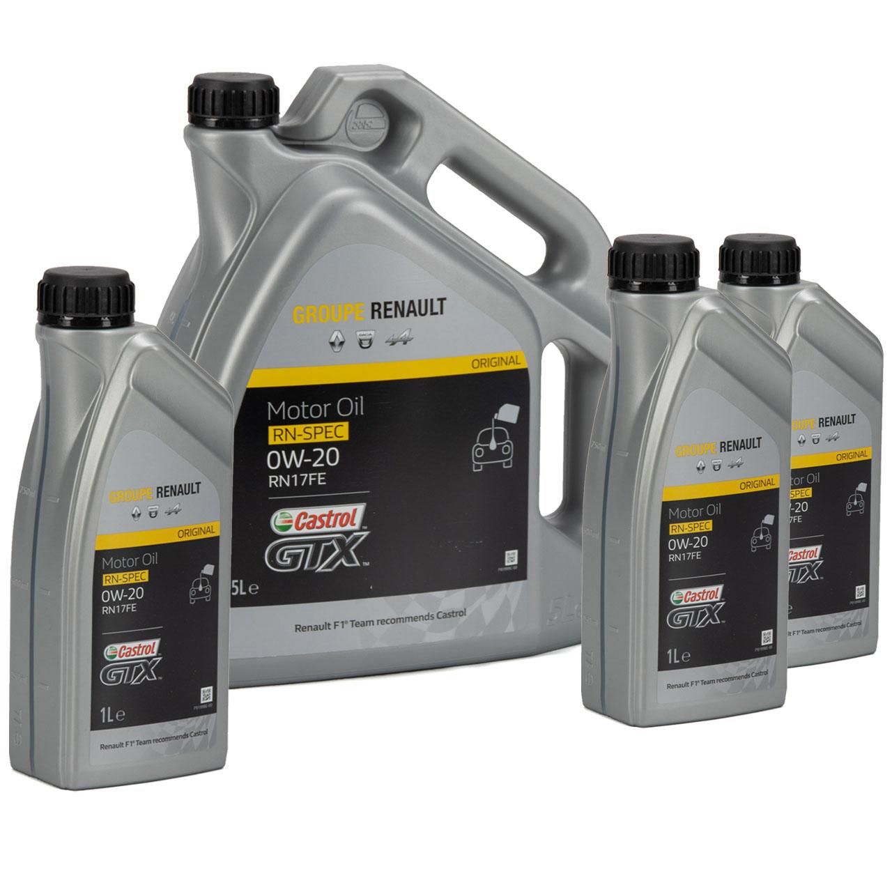CASTROL Motoröl Öl GTX RN-SPEC 0W-20 0W20 für Renault RN17FE - 8L 8 Liter