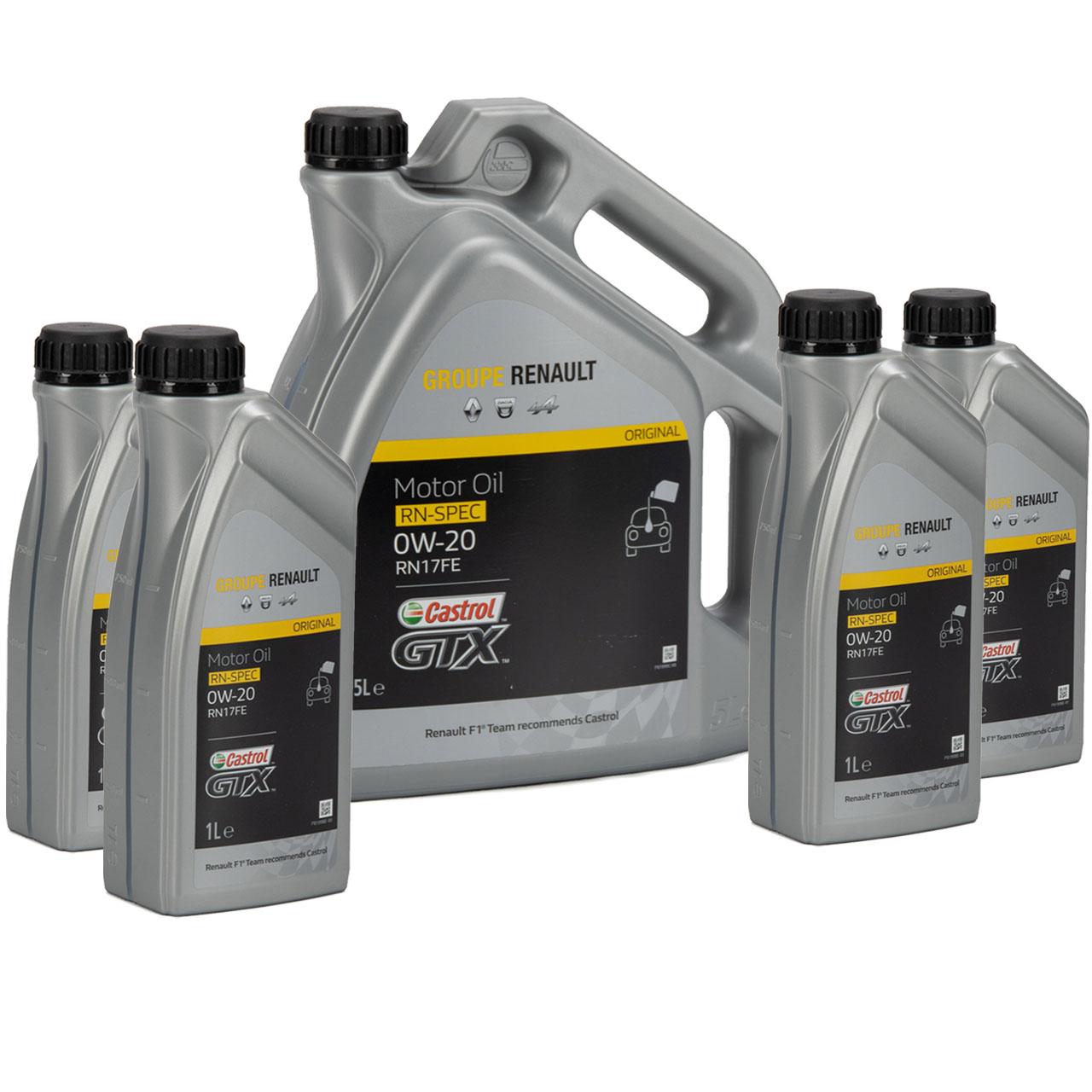 CASTROL Motoröl Öl GTX RN-SPEC 0W-20 0W20 für Renault RN17FE - 9L 9 Liter