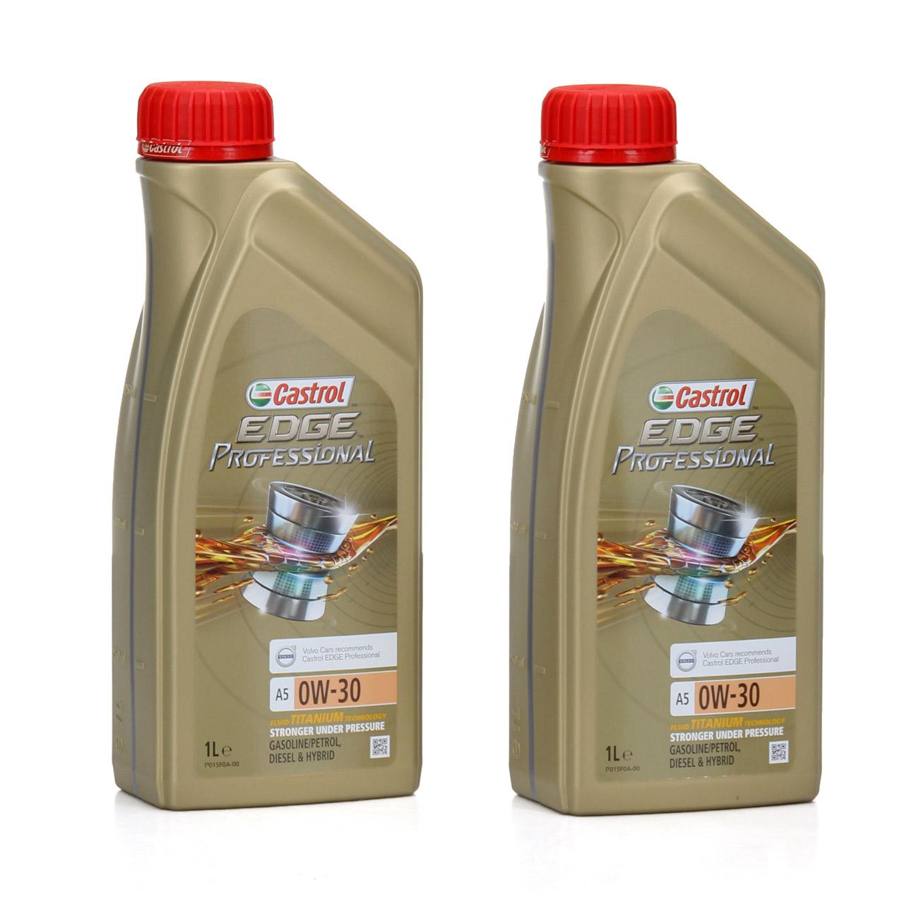 CASTROL EDGE Professional Motoröl Öl TITANIUM FST A5 0W-30 0W30 VOLVO 2 Liter