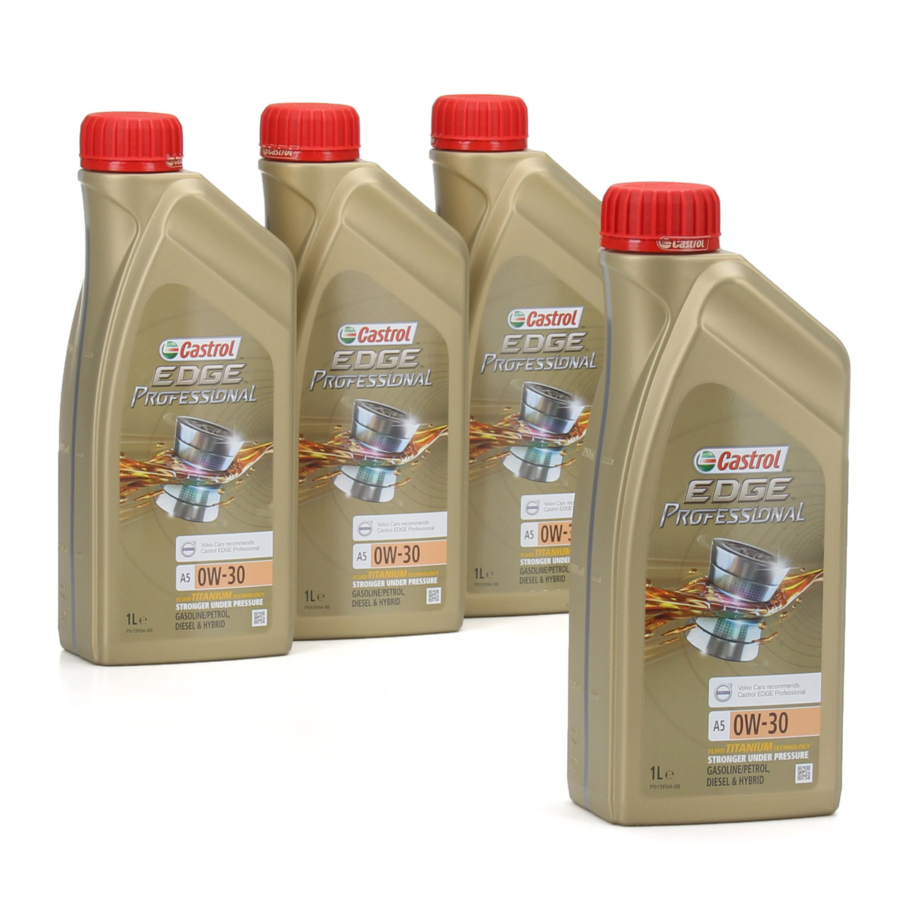 CASTROL EDGE Professional Motoröl Öl TITANIUM FST A5 0W-30 0W30 VOLVO 4 Liter