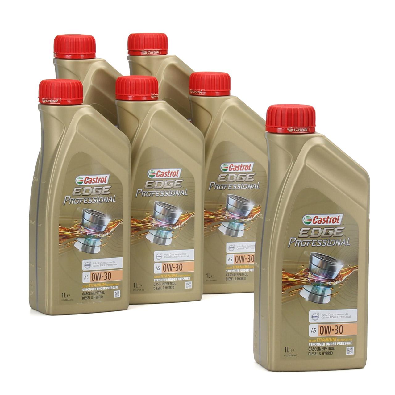 CASTROL EDGE Professional Motoröl Öl TITANIUM FST A5 0W-30 0W30 VOLVO 6 Liter