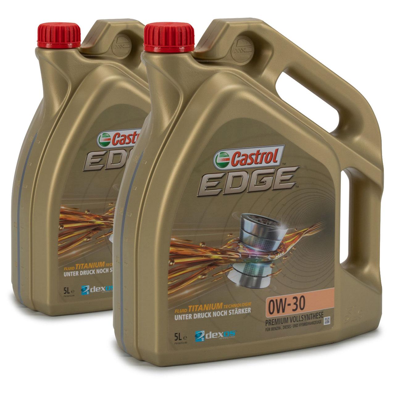 CASTROL EDGE Motoröl ÖL TITANIUM FST 0W30 dexos2 MB 229.31/229.51 - 10L 10 Liter