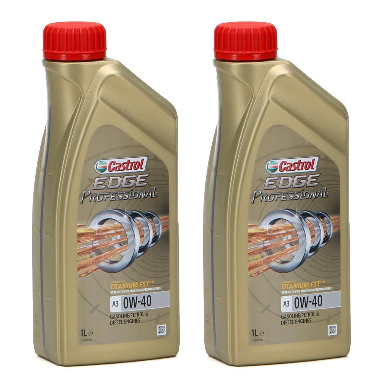 CASTROL EDGE Professional Motoröl Öl TITANIUM FST A3 0W40 BMW LL-01 - 2L 2 Liter