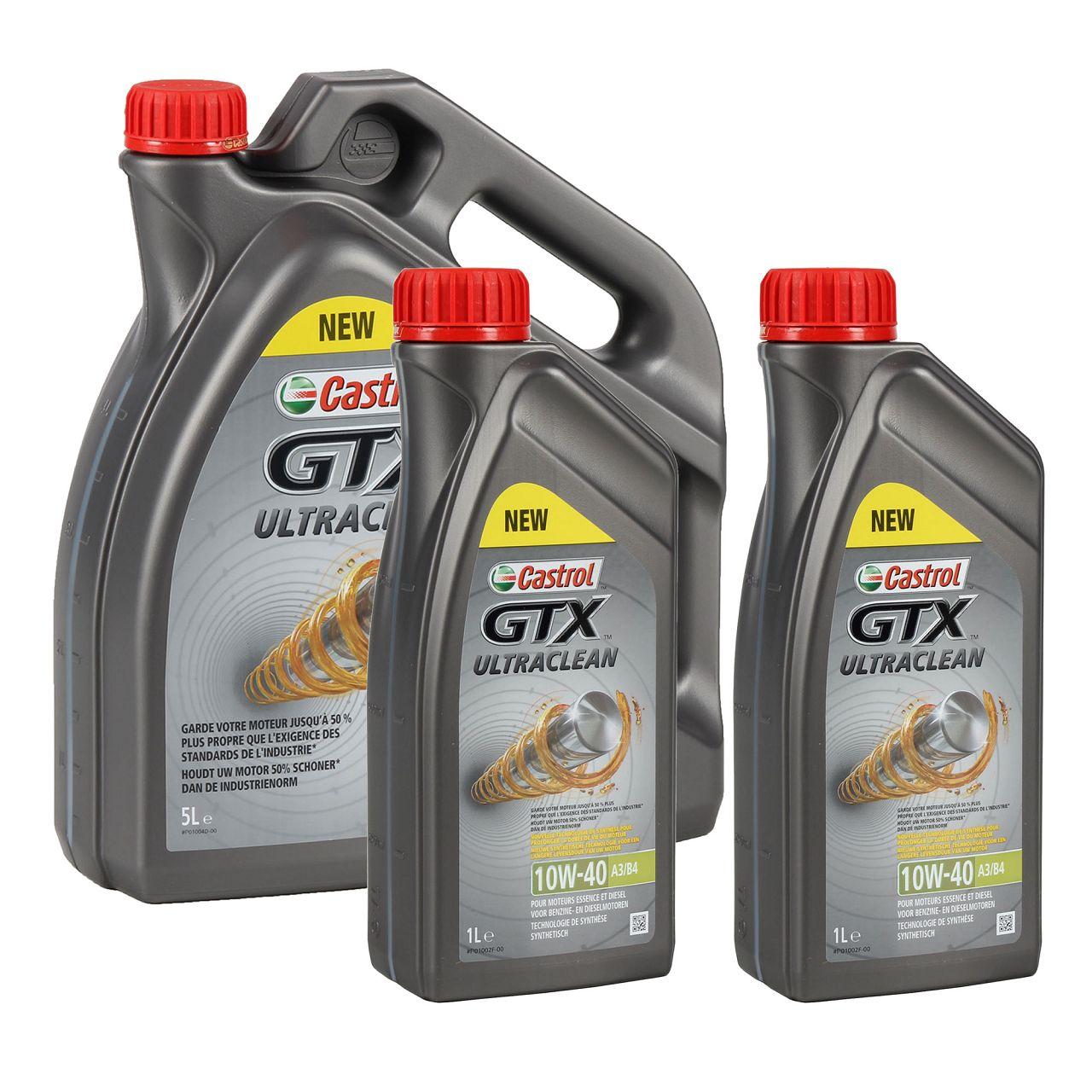 CASTROL Motoröl Öl GTX ULTRACLEAN 10W-40 10W40 A3/B4 - 7 Liter