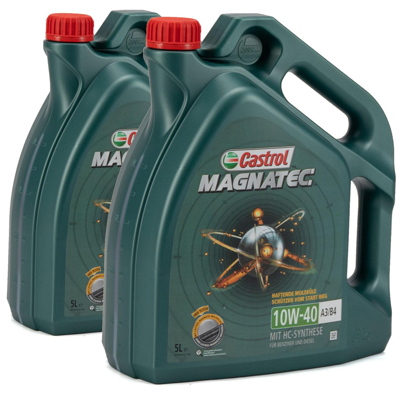 CASTROL Magnatec Motoröl Öl 10W40 A3/B4 MB 226.5 VW 501.01/505.00 - 10L 10 Liter