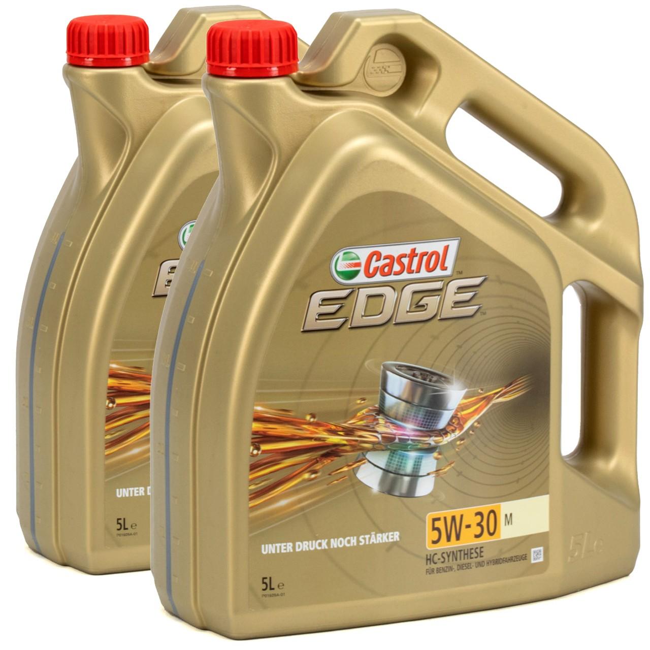 CASTROL Edge TITANIUM Motoröl ÖL 5W30 M BMW LL-04 MB 229.31/51/52 - 10L 10 Liter