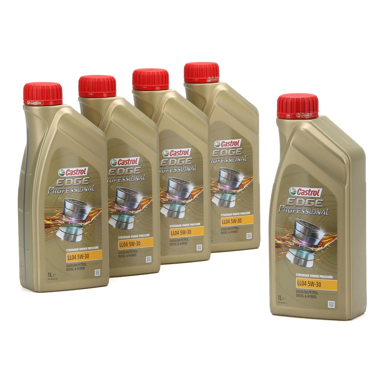 CASTROL EDGE Professional Motoröl Öl für BMW Longlife IV LL04 5W-30 - 5 Liter