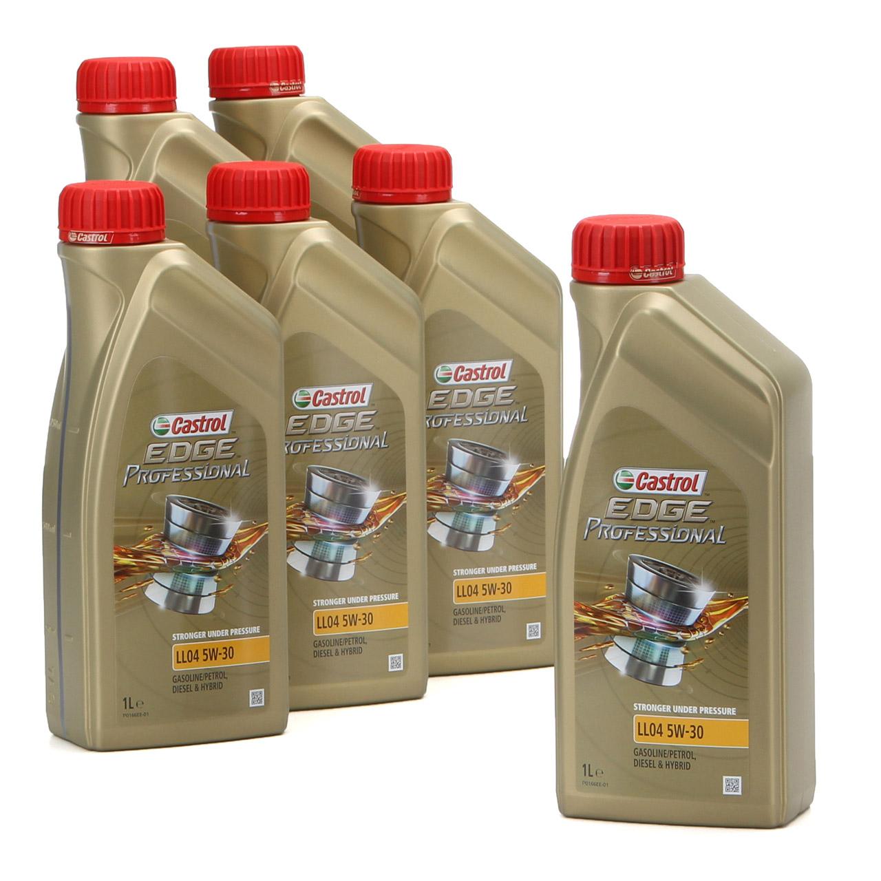 CASTROL EDGE Professional Motoröl Öl für BMW Longlife IV LL04 5W-30 - 6 Liter