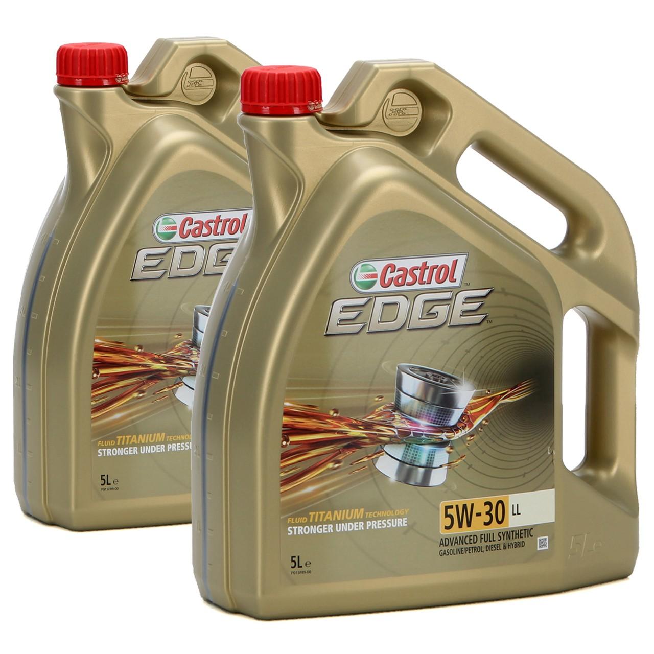 CASTROL EDGE Motoröl ÖL TITANIUM 5W30 LL ACEA C3 VW 504.00/507.00 - 10L 10 Liter