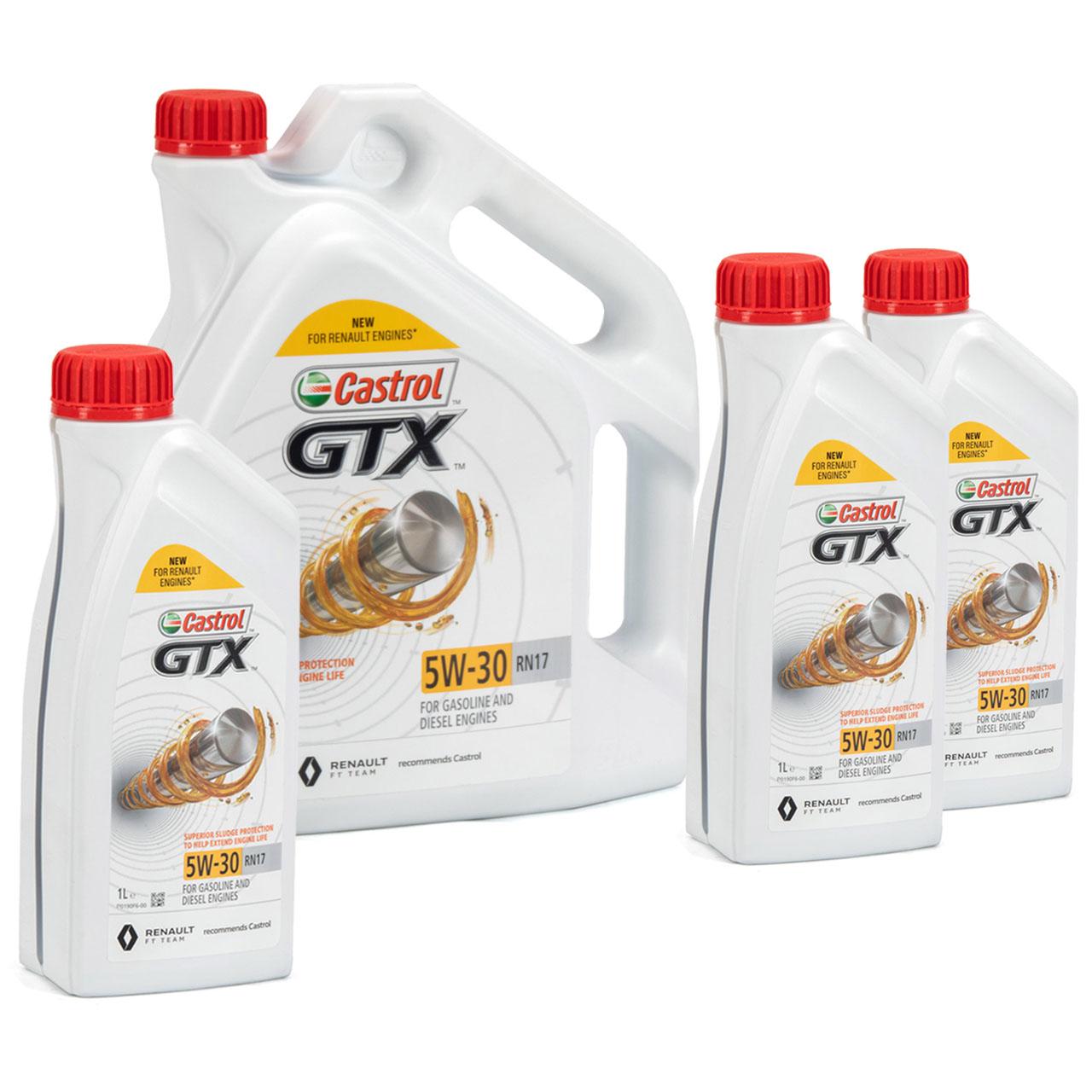 CASTROL Motoröl Öl GTX 5W-30 5W30 RN17 ACEA C3 für Renault - 8L 8 Liter