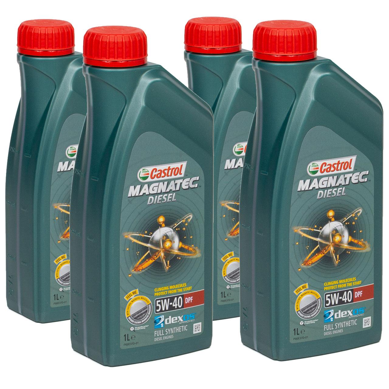 CASTROL Magnatec DIESEL DPF Motoröl Öl 5W40 dexos2 Ford WSS-M2C917-A - 4 Liter