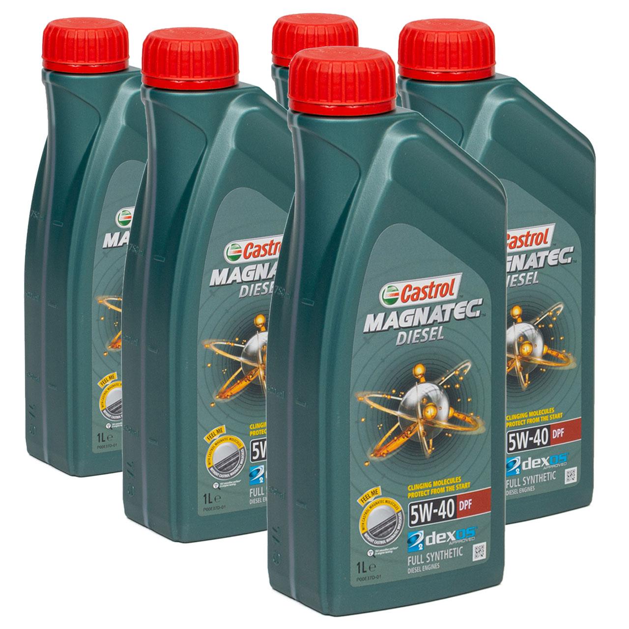 CASTROL Magnatec DIESEL DPF Motoröl Öl 5W40 dexos2 Ford WSS-M2C917-A - 5 Liter