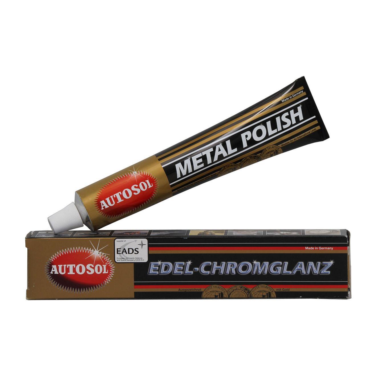 AUTOSOL Metal Polish Alu Metal Chrom Politur Polierpaste EDEL Chromglanz 75ML
