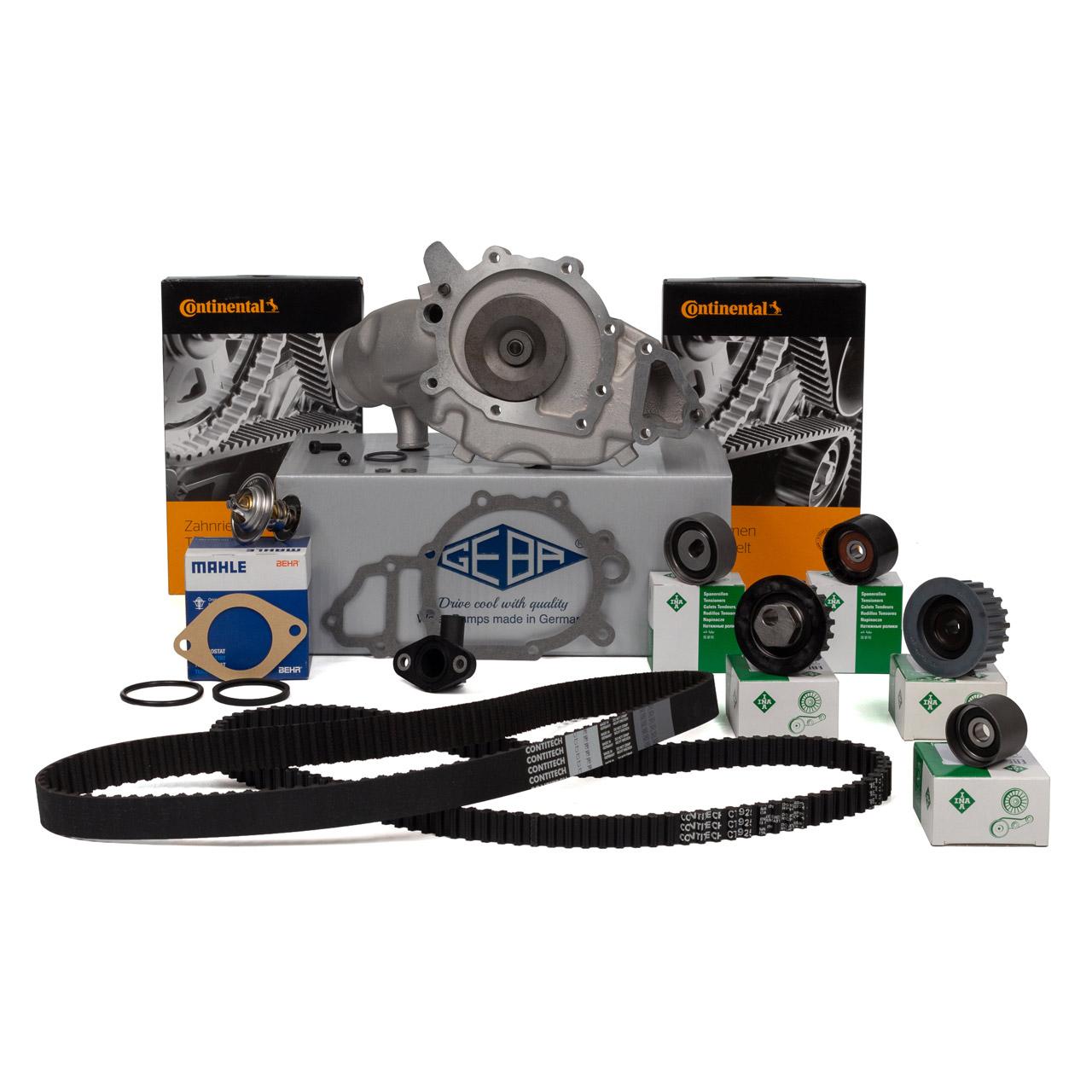 CONTI Zahnriemen Rollen Wasserpumpe Thermostat für PORSCHE 944 3.0 S2 + 968 3.0