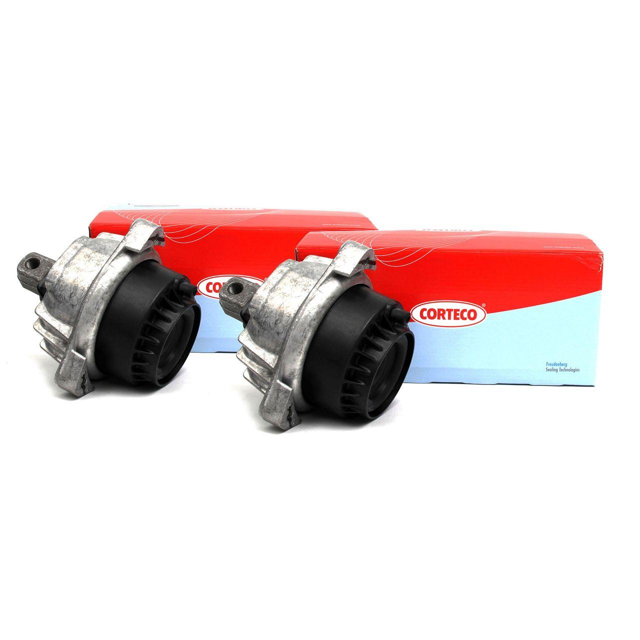 2x CORTECO Motorlager Hydrolager für BMW 5er F10 F11 F07 6er F12 F06 7er F01-04