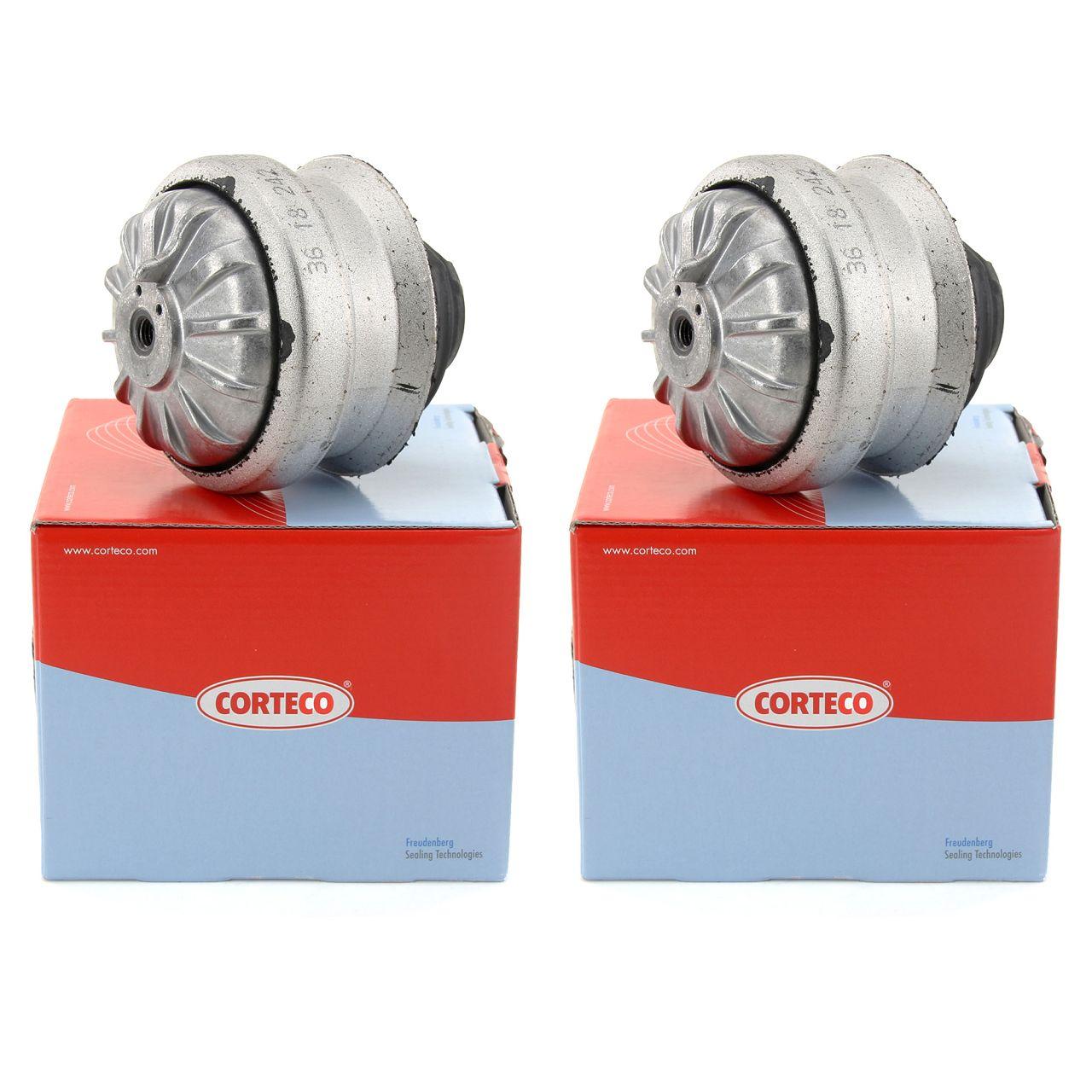 2x CORTECO Motorlager Hydrolager MERCEDES 190 W201 W124 vorne 1242401917